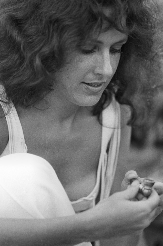 Grace Slick Vintage Concert Fine Art Print From Woodstock -7079