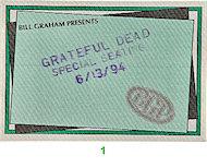 Grateful Dead Backstage Pass