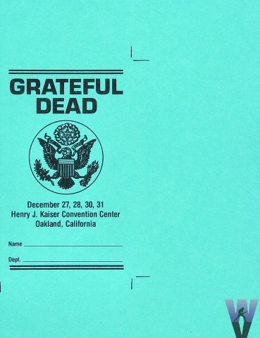 Grateful Dead Laminate reverse side