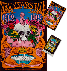 Grateful Dead Poster/Postcard/Ticket Bundle