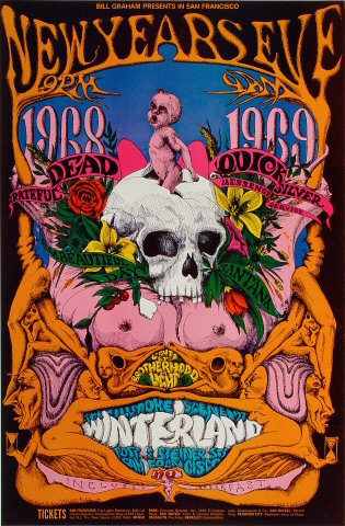 Grateful Dead Poster From Winterland Dec 31 1968 At