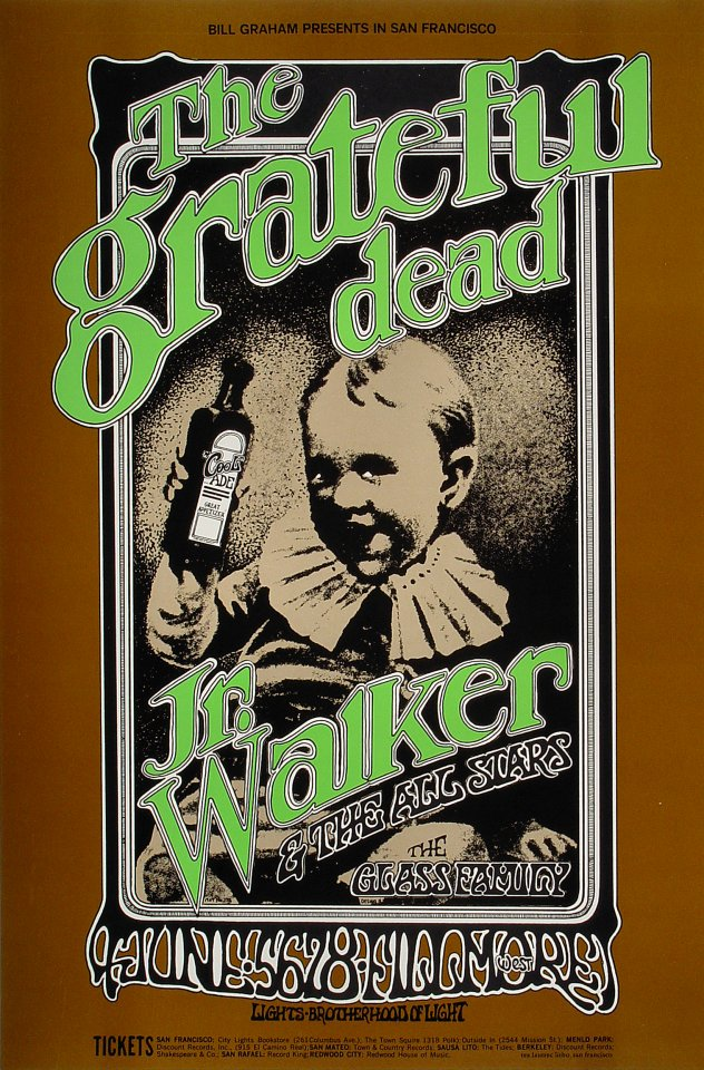 Grateful Dead Poster From Fillmore West Jun 5 1969 At