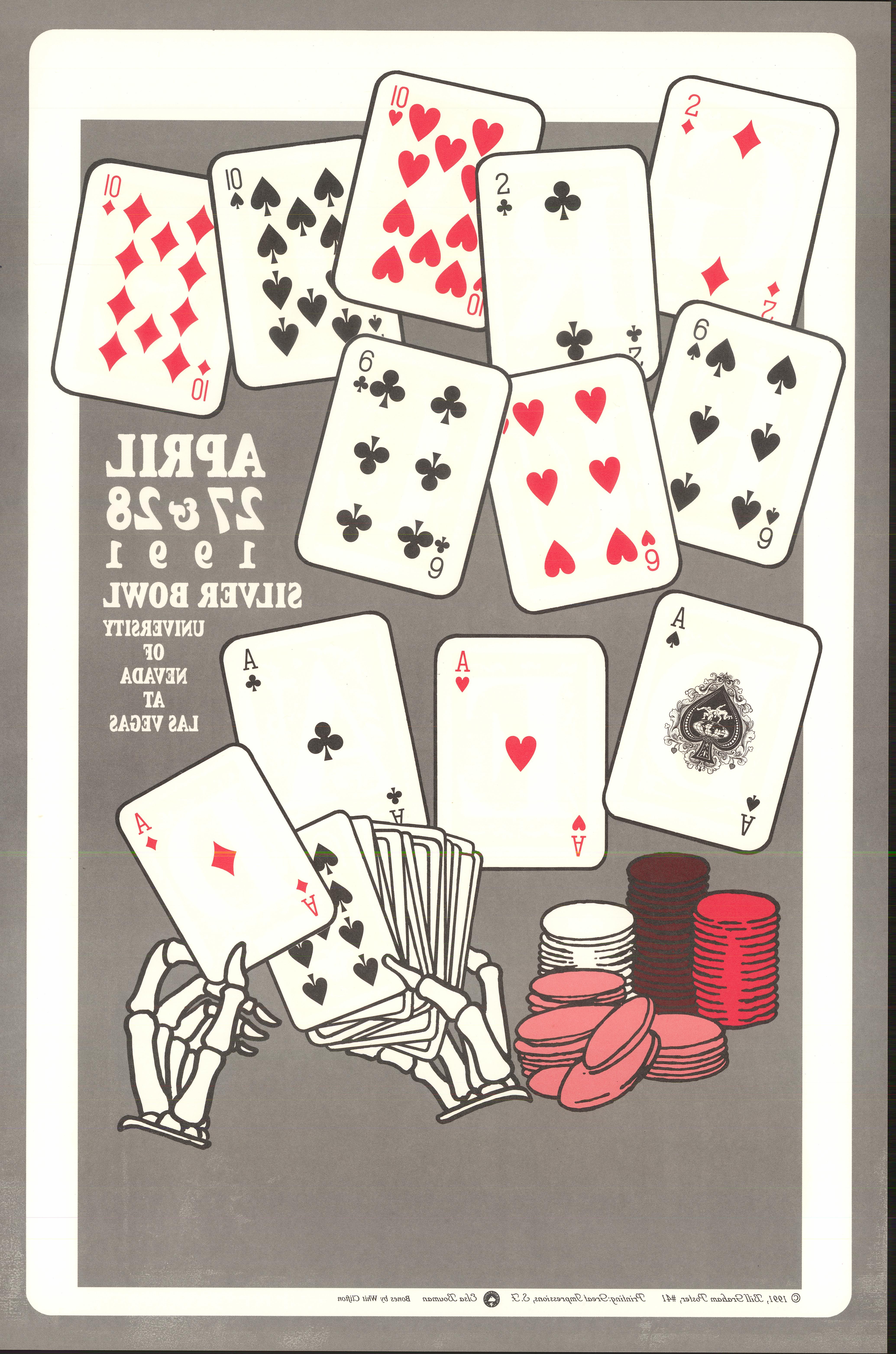 Grateful Dead Poster reverse side