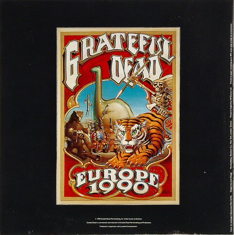 Grateful Dead Program reverse side