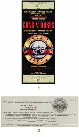 Guns N' Roses Vintage Ticket