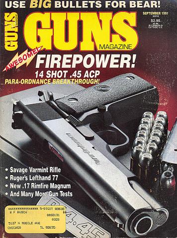 Guns Vol. XXXVII No. 9-441 Magazine