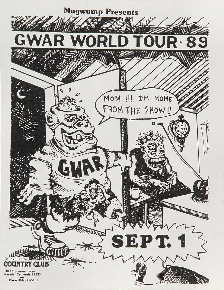 GWAR Handbill