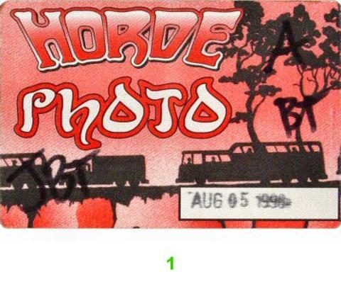 H.O.R.D.E. Festival Backstage Pass