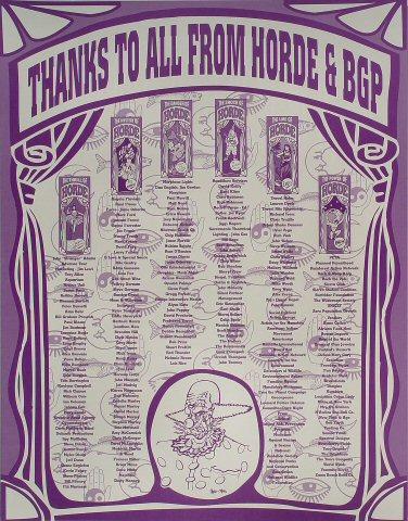 H.O.R.D.E. Festival Poster reverse side