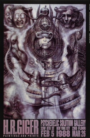 H.R. Giger Paintings and Prints Poster