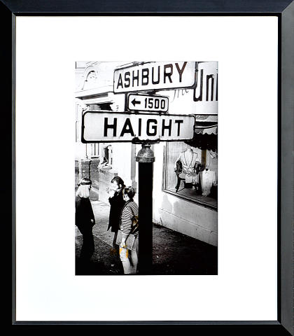 Haight Ashbury Street Sign Framed Fine Art Print
