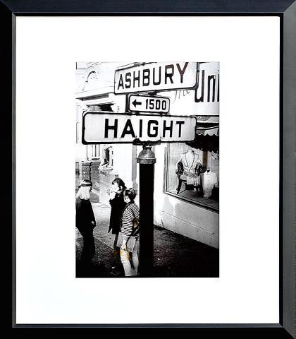Haight Ashbury Street Sign Framed Fine Art Print