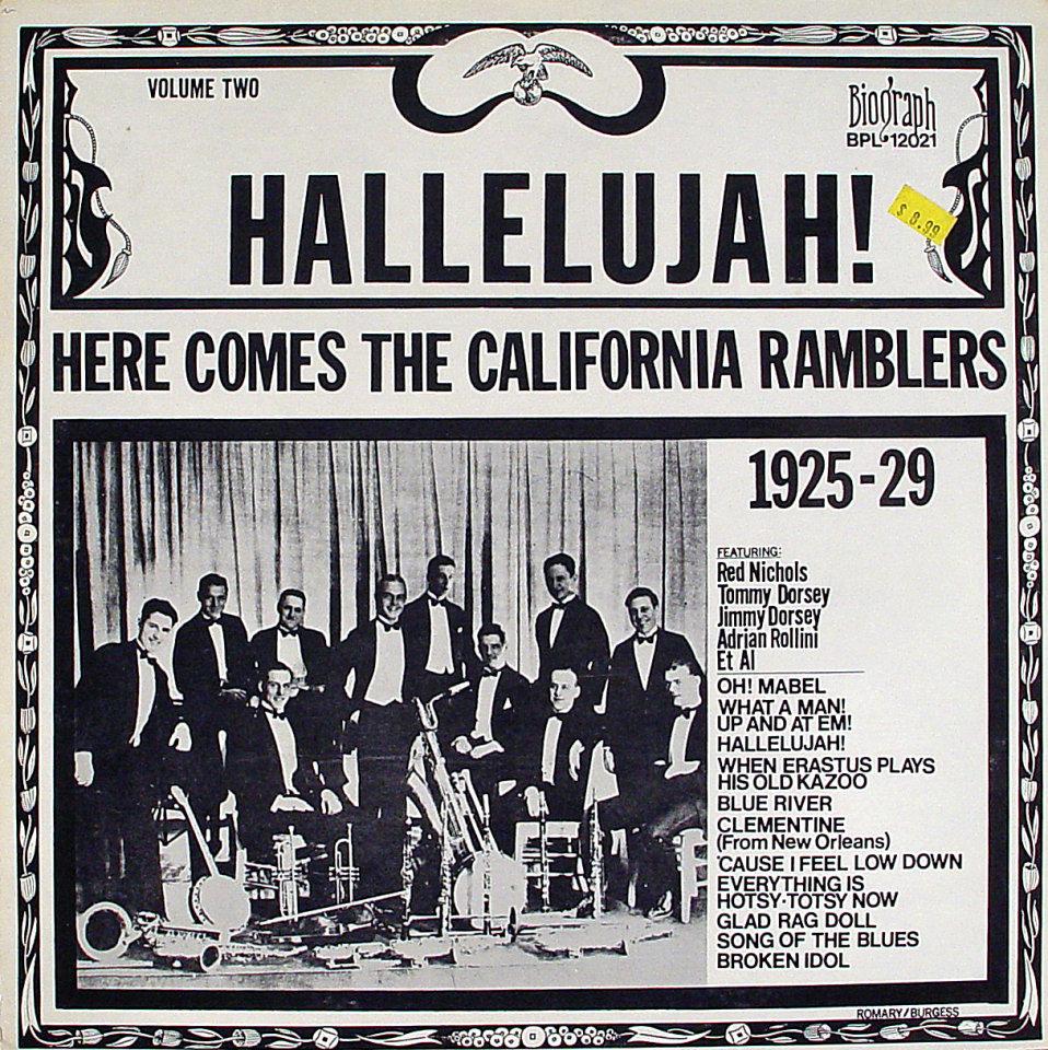 "Hallelujah! Here Comes The California Ramblers 1925-29 Vinyl 12"" (Used)"