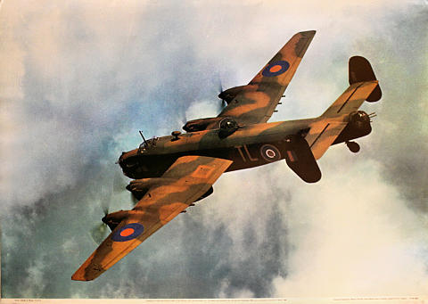 Handley Page Halifax B.II SRS of No. 35 Sqdn, RAF Poster