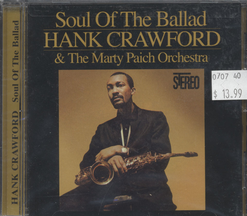 Hank Crawford & The Marty Paich Orchestra CD