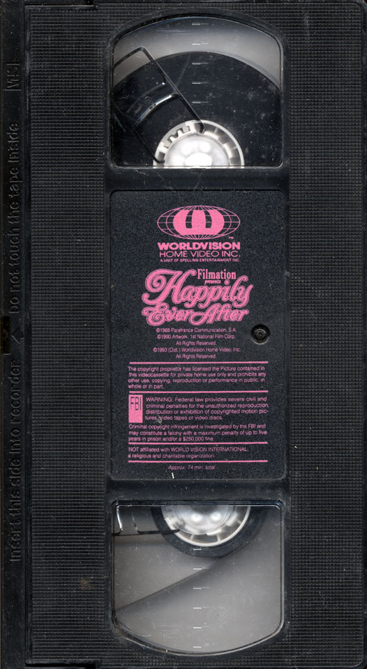 Happily Ever After VHS