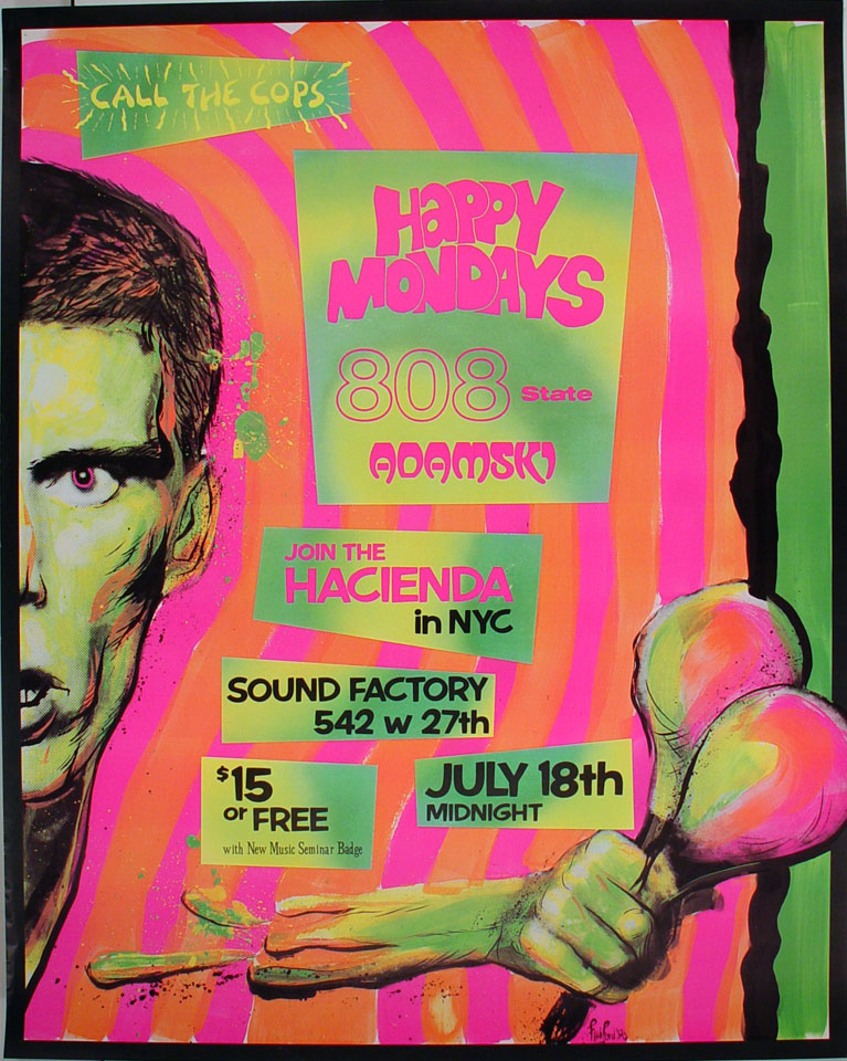 Happy Mondays Poster