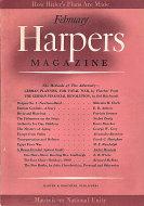 Harper's Magazine February 1941 Magazine