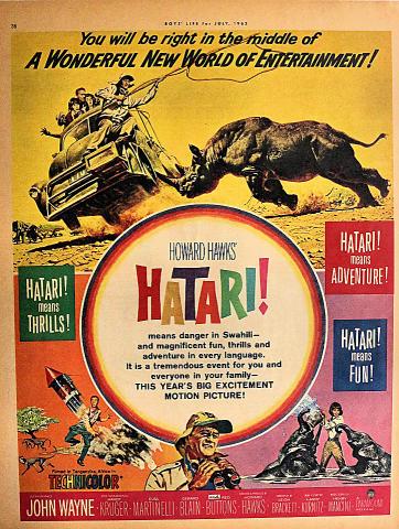 Hatari! Vintage Ad