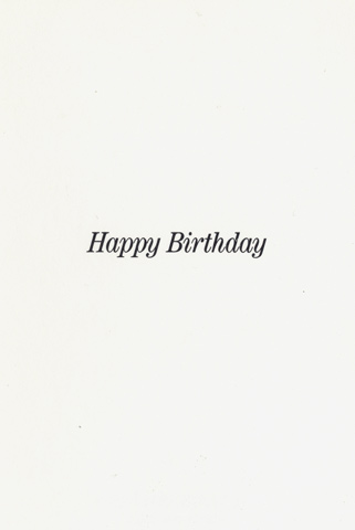 Have A Heavy Birthday Greeting Card reverse side