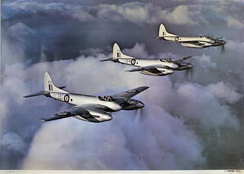 Havilland F.20 Sea Hornets Poster