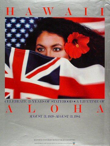 Hawaii: 25 Years of Statehood Poster