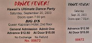 Hawaii's Ultimate Dance Party Vintage Ticket