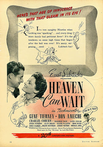 Heaven Can Wait Vintage Ad