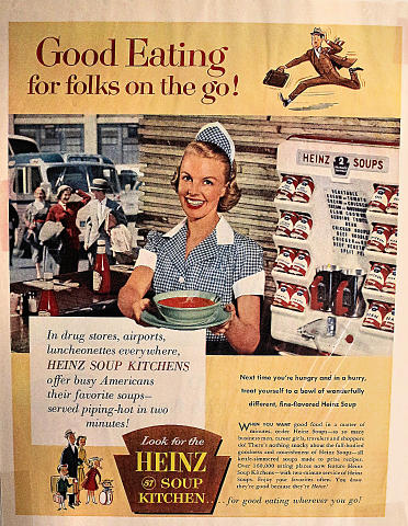 Heinz Soup Kitchen: Good Eating For Folks On The Go! Vintage Ad