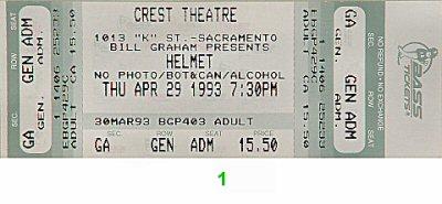 Helmet Vintage Ticket