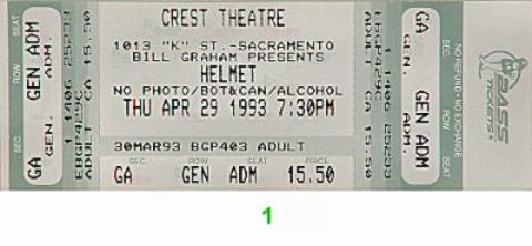 Helmet Vintage Ticket