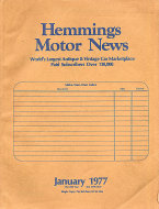 Hemmings Motor News Vol. 24 No. 277 Magazine