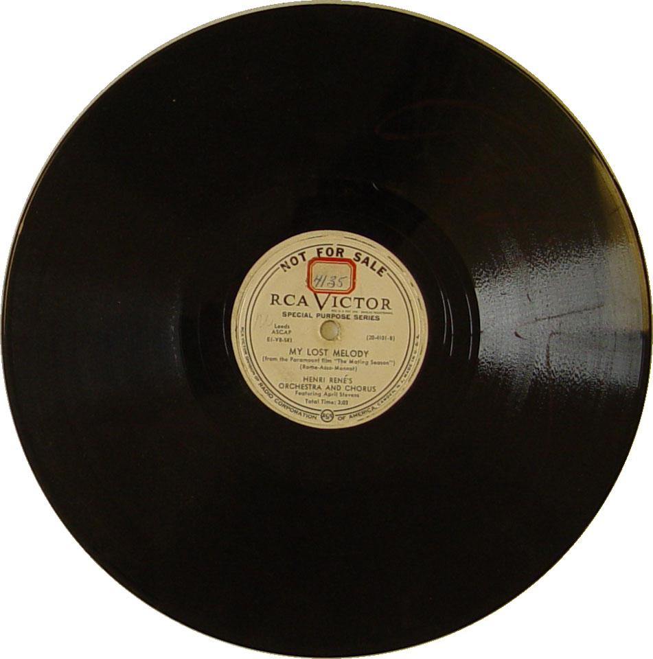 "Henri Rene's Orchestra And Chorus Vinyl 10"" (Used)"