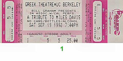 Herbie Hancock Vintage Ticket