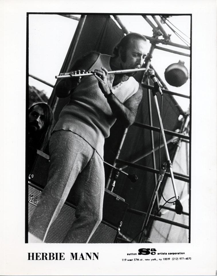 Herbie Mann Promo Print