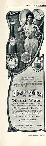 Hiawatha: Pure Spring Water Vintage Ad