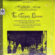 "Highlights From Johann Strauss The Gypsy Baron Vinyl 12"" (Used)"