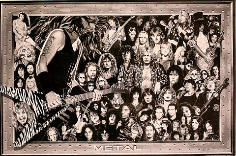 History of Heavy Metal Poster