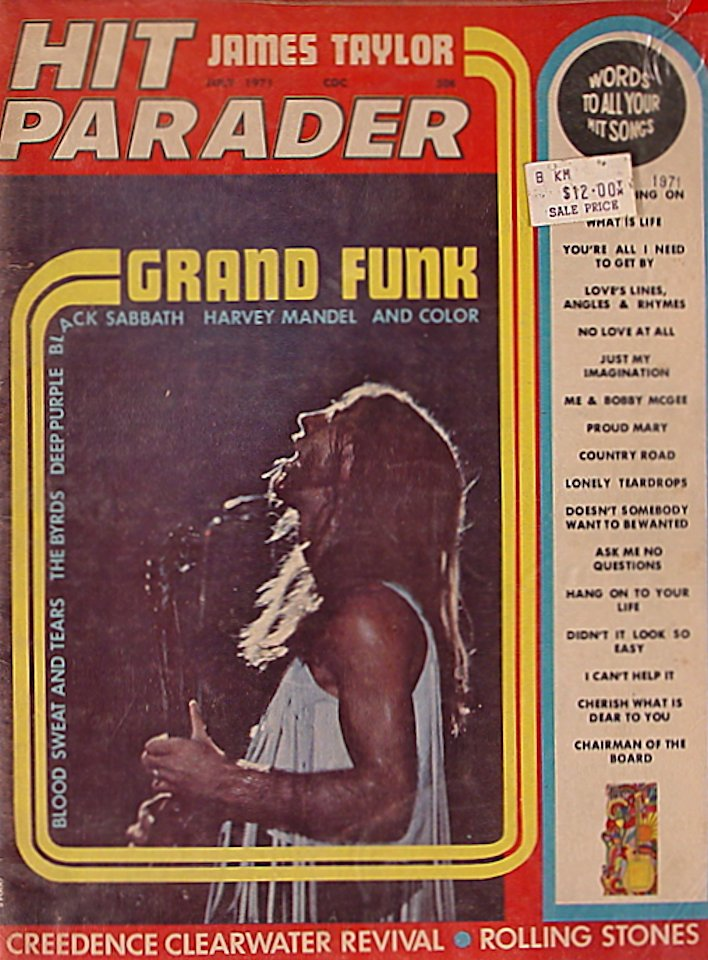 Hit Parader  Jul 1,1971 Magazine