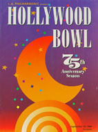 Hollywood Bowl Program