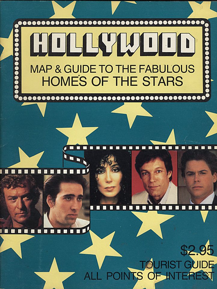 Hollywood Map & Guide to the Fabulous Homes of the Stars 1988