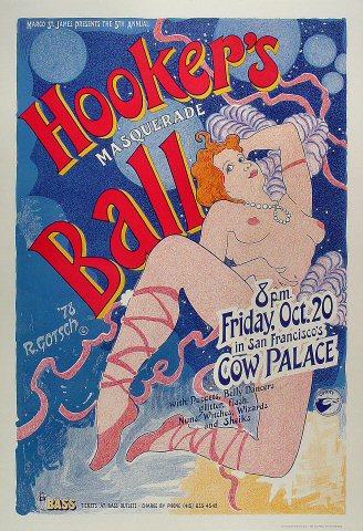 Hooker's Masquerade Ball Poster