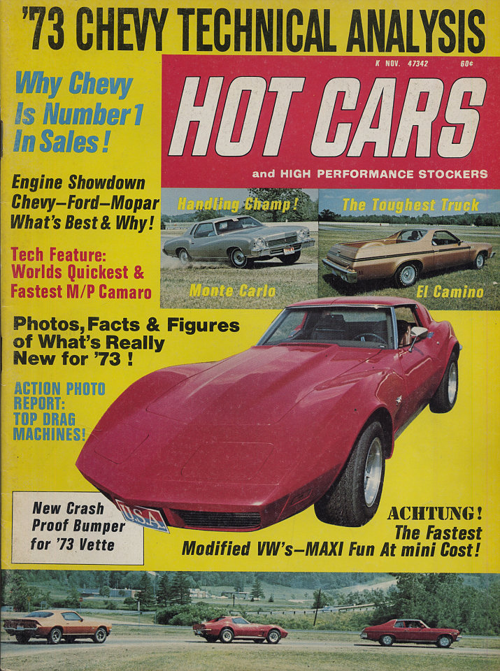 Hot Cars Magazine, Nov 1, 1972 at Wolfgang\'s