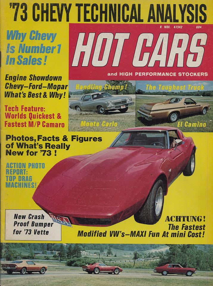 Hot Cars Magazine, Nov 1, 1972 at Wolfgang\'s