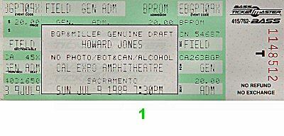 Howard Jones Vintage Ticket