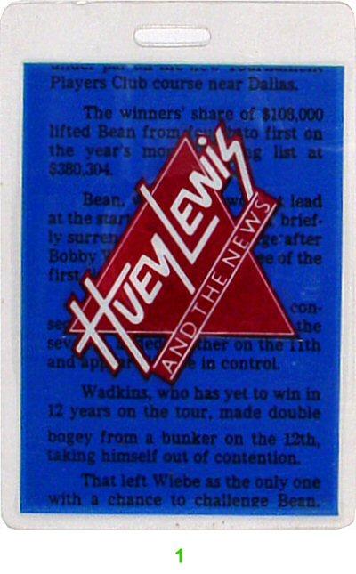 Huey Lewis & the News Laminate