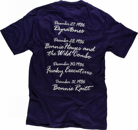 Huey Lewis & the News Men's Vintage T-Shirt reverse side