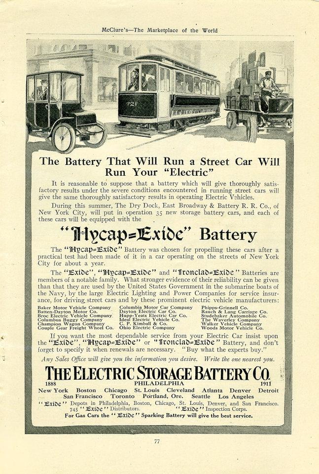Hycap-Exide Battery Vintage Ad