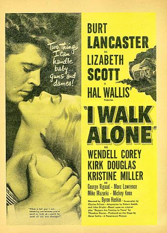 I Walk Alone Vintage Ad