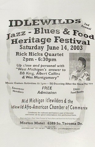 Idlewild Jazz Festival Poster